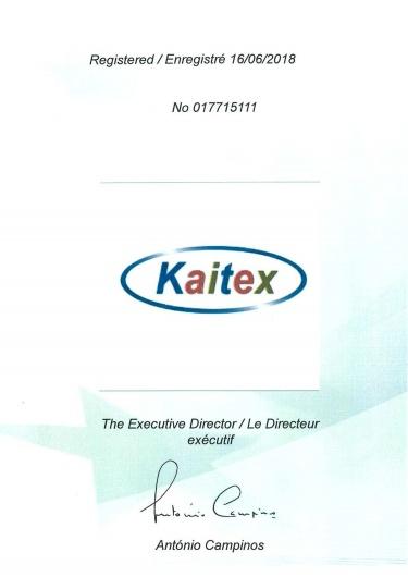 Kaitex 歐盟智慧財產局註冊證書