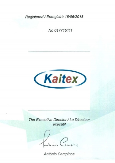 EUIPO certificate of Kaitex